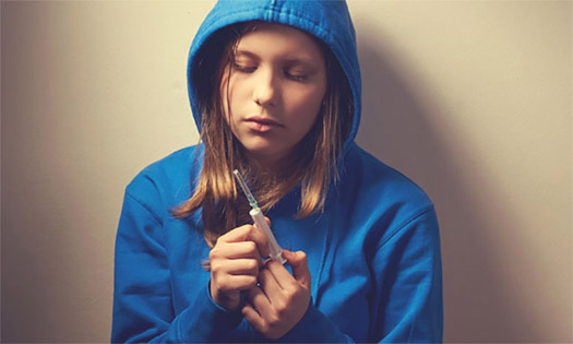 Girl Considering Injecting Heroin